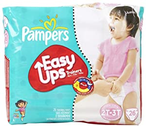 Pampers Easy-Ups Training Pants for Girls - Jumbo Pack Size 2T-3T (Size 4)
