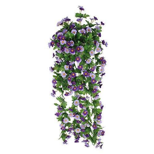 Lifeup set vaso legno fiori artificiali lavanda botte for Piante rampicanti finte