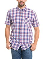 BIG STAR Camisa Hombre Lorag_Shirt_Ss (Azul / Blanco / Rojo)