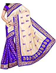 Sai Fab Women's Branded Indian Style Bhagalpuri Silk Purple Printed Elegant Saree With Blouse Piece ( Best Present...