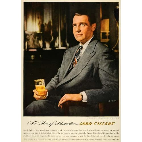 1947 Ad Lord Calvert Alcohol Drink Beverage Distillery   Original Print Ad