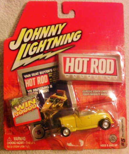 Johnny Lightning Hot Rod - 1932 Ford Roadster (Yellow) #5 - Scale 1:64 - 1