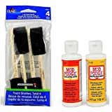Mod Podge Basic Decoupage Starter Kit with 6 Items - Gloss and Matte Medium with 4 Foam Brushes (Black Foam Brushes) (Color: Black Foam Brushes)