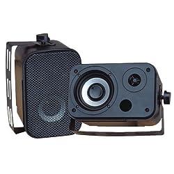 1 - 3.5'' Indoor/Outdoor Waterproof Speakers (Black) Waterproof-for outdoor marine patio & poolside use 300W max 150W RMS PDWR30B