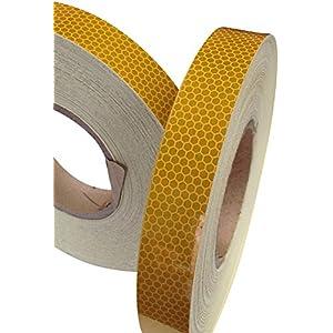 Hi Viz High Intensity Reflective Tape Amber 25mm X 2.5M Weatherproof Strong