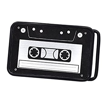 Buckle Rage Unisex Vintage Cassette Tape Player Music Belt Buckle