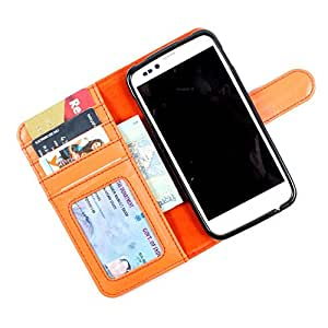 For Micromax Ninja A54 - PU Leather Wallet Flip Case Cover