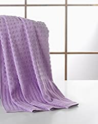 Ottomanson Pure Turkish Cotton Collection Lavender 27″ X 55″ 100% Authentic Turkish Cotton Towels…