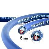 Van Damme Professional Blue Series Studio Grade 2 x 6 mm (2 core) Twin-Axial Speaker Cable 268-565-060 12 Metre / 12Mby Van Damme
