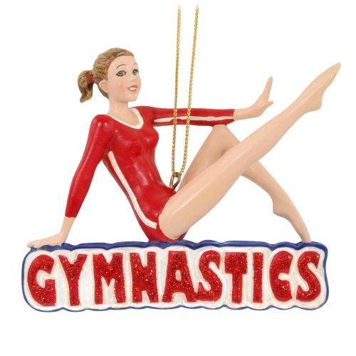 Girl Gymnast Gymnastics Sports Player Christmas Tree Ornament