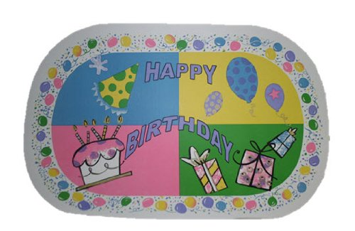 Happy Birthday Vinyl Placemat Set of 2