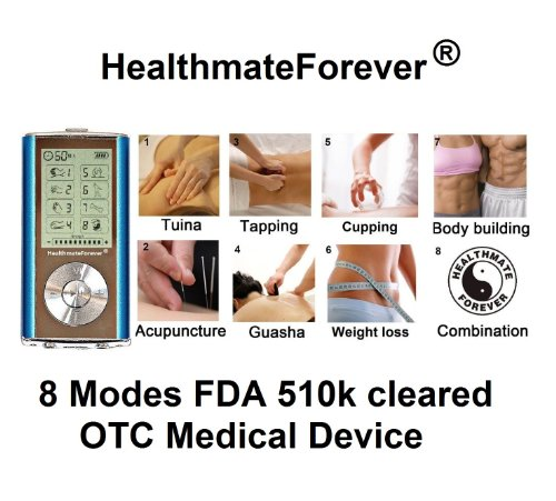 Holiday Special Pain Relief Pro Hands Free Electronic Pulse Massager Unit For Electrotherapy Pain Management Fda Cleared Electronic Pulse Massager Healthmateforever 8 Modes Palm Digtal Massager For Pain Relief, Therapy Machine Device Unit Healthmate Forev