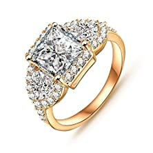 buy Womens Rings Alloy 18K Gold Plated Cubic Zirconia Cz Geometry Shaped Size Us 9 By Aienid
