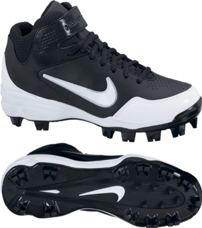 Boy's Nike Youth Huarache 2kFresh Molded Baseball Cleat Black/White Size 3.5