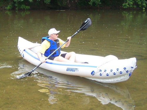 Sea Eagle 370 Solo Pro 1 Person Inflatable Kayak Package