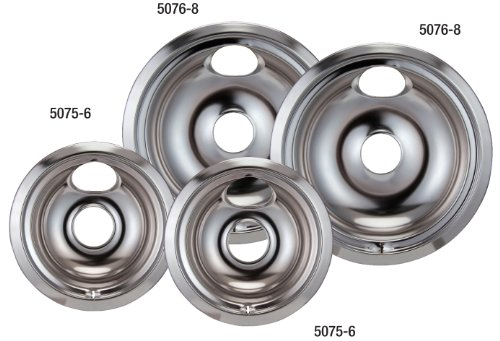 Stanco 4 Assemblage Ge/Hotpoint Electric Range Chrome Reflector Bowls With Locking Notch