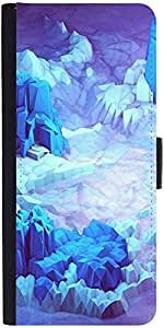 Snoogg Crystal Earth Graphic Snap On Hard Back Leather + Pc Flip Cover Samsun...