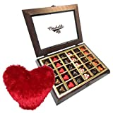 Valentine Chocholik's Belgium Chocolates - Gesture Of Love Of Chocolates With Heart Pillow