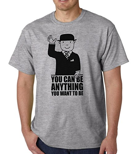 Mr Benn t-shirt - You Can Be Anything You Want To Be (Large, Athletic Grey)