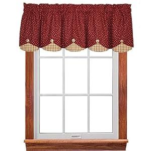 Apple Jack Scalloped Valance Window