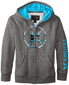 Hurley Big Boys' Icon Hoody, Medium Grey Heather, X-Large