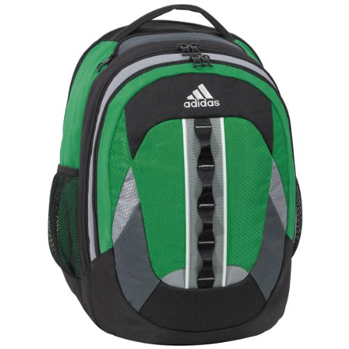 adidas Ridgemont Backpack, Prime Green, 19x14x14-Inch