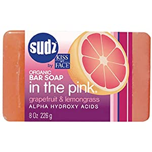 Sudz by Kiss My Face Organic Bar Soap, In the Pink, Grapefruit &amp; Lemon, 8-Ounce Bars (Pack of 6)