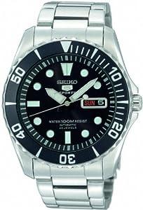 Seiko SNZF17K1 - Reloj analógico de caballero automático con correa de acero inoxidable plateada - sumergible a 100 metros por Relojitos Euromediterránea