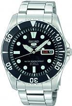 Comprar Seiko SNZF17K1 - Reloj analógico de caballero automático con correa de acero inoxidable plateada - sumergible a 100 metros