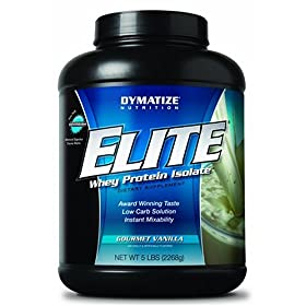 Dymatize Nutrition Elite Whey Protein Isolate Powder, Gourmet Vanilla, 5-Pound Tub