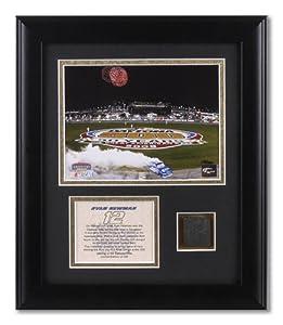 Ryan Newman - 2008 Daytona 500 Winner - Framed 6x8 Photograph with Race Winning Tire Piece - Mounted Memories Certified