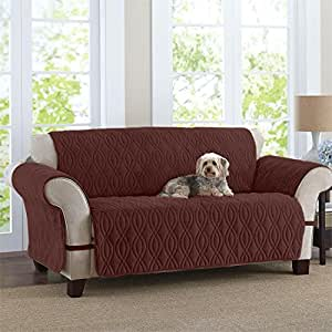 Amazoncom brylanehome plush pet sofa cover chocolate 0 for Furniture covers for pets amazon