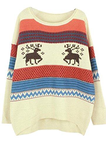 Yasong-Women-Ladies-Girls-Long-Sleeve-Loose-Fit-Jacquard-Weave-Deer-Christmas-Pullover-Knitwear-Sweater-Jumper