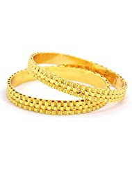 Peach & Glory Gold Plated Bangle For Women SIZE 2.6 (B301-26)