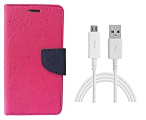 Novo Style Wallet Case Cover For Apple iPhone 5 / 5S Blue + Mini USB LED Light Adjust Angle / bendable Portable Flexible USB Light