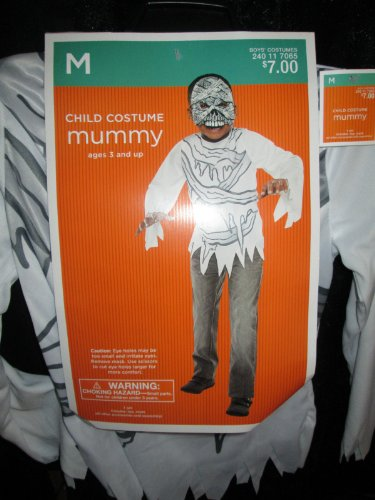 Child MUMMY Costume Medium 6-8 Halloween