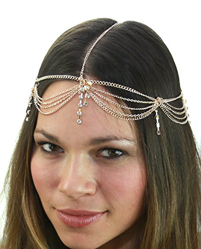 womens-bohemian-fashion-head-chain-jewelry-4-draping-chain-strand-with-rhinestone-strand-gold-tone