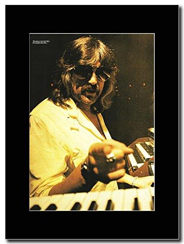 Deep Purple-Jon Lord Stage Shot Magazine Promo su un supporto, colore: nero
