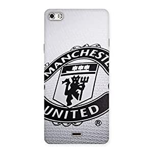 Stylish Grey MU Team Back Case Cover for Micromax Canvas Silver 5
