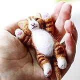 Artec360 Lazy Cat Needle Felting Kits Lying in Hand - Needles, Finger Guards, Black High-Density Foam Mat, Instructions 3.2