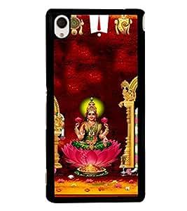 printtech Lord Goddess Lakshmi Laxmi Back Case Cover for Sony Xperia M4 Aqua::Sony Xperia M4 Aqua Dual