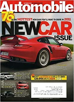 automobile october 2010 porsche 911 gt2 rs on cover new car issue 76 hotte. Black Bedroom Furniture Sets. Home Design Ideas