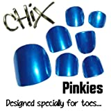 Chix Nails Nail Wraps PINKIES Blue Lightening JUST FOR TOES Toes Vinyl Foils Minx Trendy Style SALON