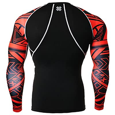Fixgear Mens Womens Sport Under Compression Base Layer T Shirt Long Sleeve S~4XL