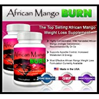 African Mango Burn (2 Bottles) - The Ultimate African Mango Fat Burning Supplement. Pure Irvingia Gabonensis Weight Loss, Appetite Suppressing Diet Pills (1200mg)