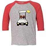 Inktastic Little Boys' Golf Cart Toddler T-Shirt 4T Heather and Red