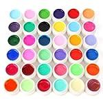 36 Farbe Nail Art UV Gel Farbgel Effe...