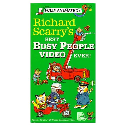 Amazon.com: Richard Scarry's Best Busy People Video Ever