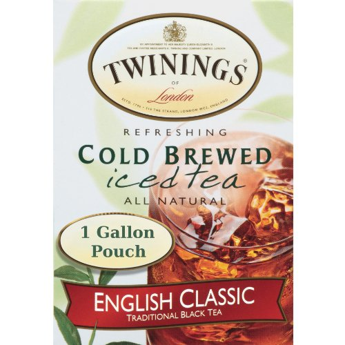 Twinings 1 Gallon English Classic Cold Brew Iced Tea Bag, 24 Count