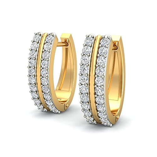 Diamond Hoop Earring on Heavenkart